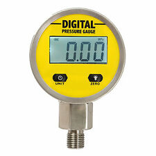 Manómetro Hidraulico Presión Digital 250BAR/25Mpa NPT1/4 For Gas Aceite Agua