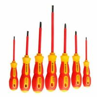 PENGGONG 7Pcs Insulated Screwdriver Set 1000V Phillips/Slotted Electrician Z7G8
