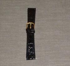 Timex TX94320BK Strap - Crocodile Grain - Black - 20mm- New old stock