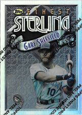 CK3) 1996 Topps Finest GARY SHEFFIELD Sterling Refractor SP Florida Marlins