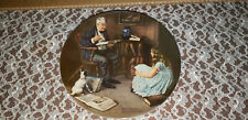 Knowles The Storyteller Norman Rockwell china plate #Aa2040