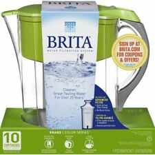 Brita Large 10 Cup Grand Water Pitcher with Filter, BPA Free - Green