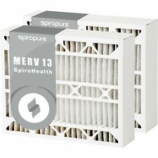 6 Pack Made in USA SpiroPure 17.25x24.5x4 MERV 8 Odor Reduction Air Filters