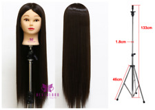 "26"" Synthetic Hairdressing Training Head Practice Mannequin Doll + Tripod Holder"