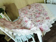 Pretty Jacquard Rose Solubility Lace Table Cloth 105cm x 105cm