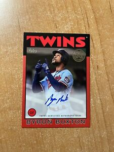 2021 Topps Series 2 - Byron Buxton - Red 1986 Topps On Card Auto #'d 02/25 TWINS