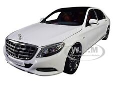 2016 MERCEDES MAYBACH S CLASS WHITE 1/18 DIECAST MODEL CAR BY ALMOST REAL 820101