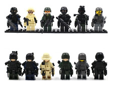 Set Military SWAT Marine Army Soldier Custom Minifigures Weapons Fits Lego MYS03