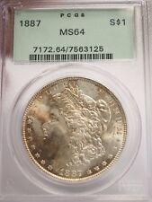 1887 Morgan Silver Dollar PCGS MS 64 - Free Shipping USA # 3125