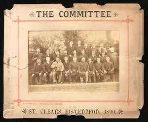 Wales - St. Clears Eisteddfod 1890 Original Photograph of the Committee by Ross