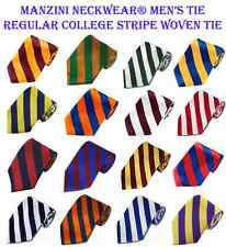 "Brand NEW! Manzini Neckwear® Men's 3.5"" DS Tie Regular College Stripe Woven Tie"