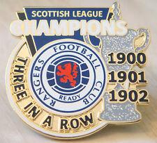 Rangers Raro victoria Pines 3 in (approx. 7.62 cm) una fila 1900/2 campeones de liga Insignia Danbury Mint