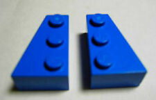LEGOS  -  Set of 3 Matched Pairs ( 3 Left & 3 Right ) THICK Wedge 3 x 2  BLUE
