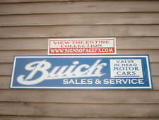 EARLY c.1920'S BUICK VALVE IN HEAD CLASSIC AUTO DEALER/SERVICE SIGN/AD 1'X46""