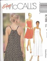 8786 UNCUT McCalls Sewing Pattern Misses Easy Fitting Dress Spring Summer OOP FF