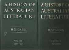 A HISTORY OF AUSTRALIAN LITERATURE by H M GREEN Vol I & II 1968 Hc Dj  2 BOOKS