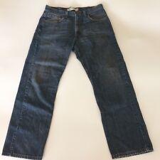 Levi's Men's 505 Regular Fit Jeans Denim Blue 33Wx30L Zipper 5 Pocket
