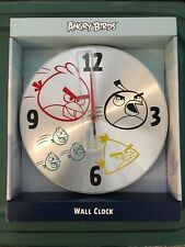 Angry Birds Wall clock Silver - Quartz - Rovio NEW 10 inches