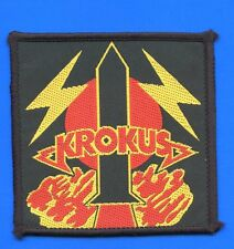 Krokus rocket vintage 1980s SEW-ON PATCH - POSTFREE to UK