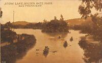 San Francisco California~Golden Gate Park~Rowboats on Stow Lake~1910 Sepia PC