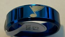 St. Louis Blues #2 titanium ring size 6