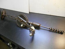 VINTAGE HAND DRILL CHEST PRESS DRILL BRACE AND BIT LARGE HEAVY DUTY EGG BEATER