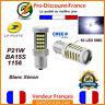 2 x ampoule 63 LED BA15S 1156 P21W BLANC XENON  VOITURE Feux Recul / Jour SMD .