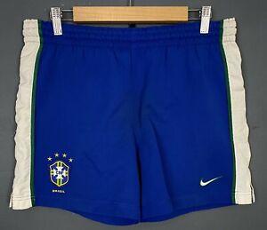 NIKE MEN'S BRAZIL NATIONAL BRASIL 1998/2000 SHORTS FOOTBALL SOCCER SIZE S SMALL
