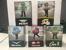 5 Motor city wheels Chevy Detroit Tigers Racing Car Mascot Bobblehead Set