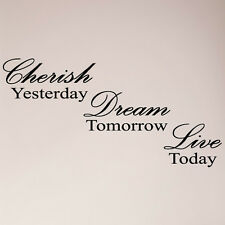 "46"" Cherish Yesterday, Dream Tomorrow, Live Today Large Wall Decal Sticker"