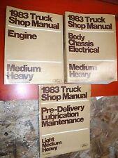 1983 FORD MEDIUM HEAVY DUTY TRUCK F, B, C  600-8000 FACTORY SERVICE MANUALS SHOP