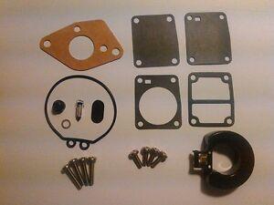 Mercury / Mariner 4 / 5 Hp Carburetor Kit With Float Replaces 855546A1