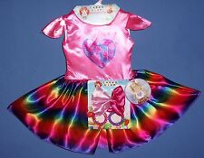 VALENTINE COSTUME DRESS GIRLS 3-4-PARTY CANDY GLAM;Bracelets;HAIR BOW-LOT-4