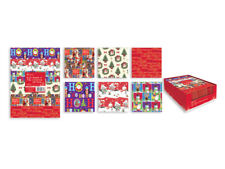 12 Sheets Christmas Gift Wrap Wrapping Paper 6 Assorted Designs Xmas Presents