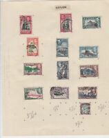 ceylon stamps page  ref 18881