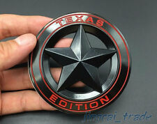 Texas Edition 3D Metal Black Round Emblem Badge Chevrolet Silverado GMC Sierra