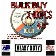 "400 x 4.5"" 115MM CUTTING DISC WHEEL THIN ANGLE GRINDER CUT OFF METAL STEEL FLAP"