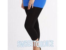 women capri leggings,black,cotton blend, 3XL,casual/workout/yoga,NEW!US Seller!