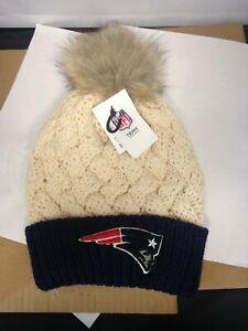 NFL New England Patriots Women's Bowline Knit Beanie