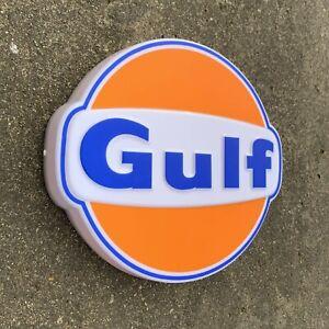 GULF LED LIGHT BOX ILLUMINATED WALL SIGN GARAGE PETROL STATION GAS OIL GASOLINE