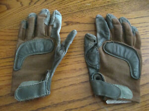 US Military Brown Army Combat Gloves made with Kevlar & Goat Leather - Damaged