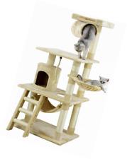 New listing Go Pet Club Cat Tree Furniture Condo, 62 inch High Cat Tree House, Beige