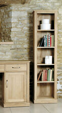 Solid Chunky Oak Tall Slim Narrow Bookcase Open Display Unit | Baumhaus Range