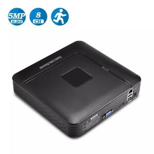 Security Video Recorder 4K Output Network Hard Disk CCTV P2P NVR 8CH 4MP.