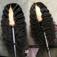 Deep Wave Brazilian Human Hair Full Lace Wig Curly 13X6 Deep Part Lace Front Wig