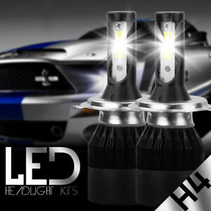 CREE H4 9003 HB2 488W 48800LM LED Headlight Kit White Light Bulbs High low Beam