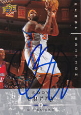 EDDY CURRY NEW YORK KNICKS SIGNED BASKETBALL CARD CHICAGO BULLS MIAMI HEAT