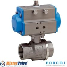 """Bonomi 8p0133 250N Direct 2-way Actuated Stainless Steel Ball Valve Size 1"""" 1/4"""