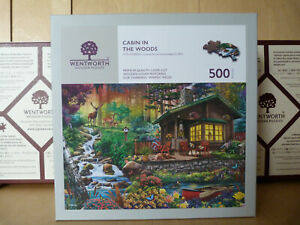 Wentworth Puzzle 500 Teile  Cabin in the Woods   KOMPLETT!  Sehr guter Zustand!