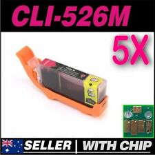 5x Magenta Ink for CANON CLI-526M MG6150 MG6250 MG8150 MG8250 MX885 MX895 MX715